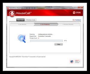 Trend micro HouseCall scanne et nettoie votre ordinateur